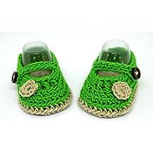 Botines para bebés, Zapatos de bebé de ganchillo, Zapatos Mary Jane, Sandalias veraniegas