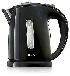 Philips HD4646/20 Serie Wasserkocher (1,5 Liter, 2400 Watt, Anti-Kalk), Silber/Schwarz