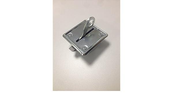 comptoir Lot de 4 loquets /à ressort automatiques pour ouvrir les portes de placard et les trappes de grenier en acier galvanis/é brillant loquet