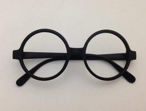 JERAZ T145 Brille mit dickem Rand ohne Glas Nerd Streberbrille Brille intellektuell