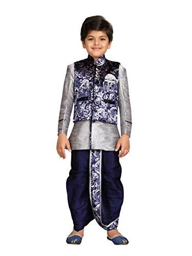 AJ Dezines Junger indischer ethnischer kurta dhoti und Pyjama mit waistcoat Set - Dhoti Kurta