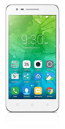 "Lenovo C2 - Smartphone libre de 5"" (4G, Bluetooth, Quad Core, 1 GB de RAM, memoria interna de 8 GB, cámara de 5 MP, Android 6), color blanco"