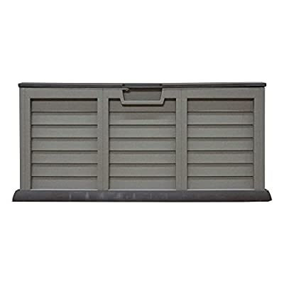 Outdoor Waterproof Plastic Garden Storage Shed / Chest Box Container - Brown / Beige - - low-cost UK light store.
