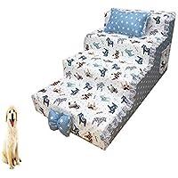 DJLOOKK Escaleras De Mascotas Rampas para Camas Altas, como Escalera De Perro para Camas Altas De Sofá Ideal para Gatos Y Perros Lindos,7,S