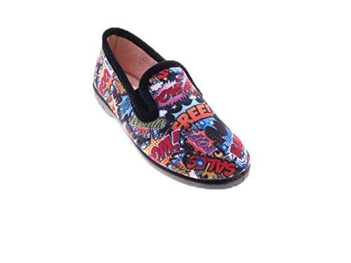 Zapatillas-de-estar-por-Casa-para-Nios-y-Nias-Tebeos-Javer-mod210-Calzado-Made-in-Spain-Garantia-de-Calidad