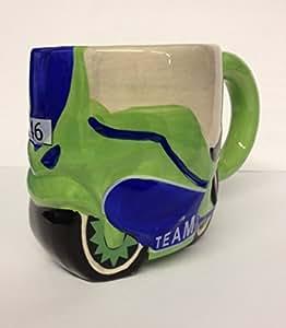 Grand Mug en céramique Vert pour moto Carousel Kitchen Mug à thé/café ~Cadeau