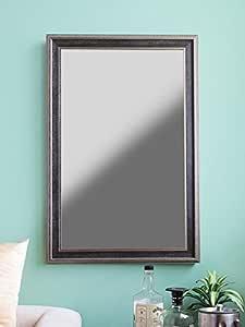 999Store Fiber Framed Decorative Wall Mirror or Bathroom Mirror Brown (30X20)