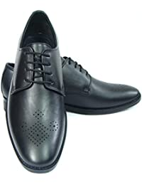 ASM Pure Leather Stylish Derby Shoes With PU Sole, Leather Insole, Fully Leather Lining And Memory Foam For Optimum...