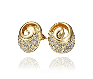 Pristine Jewellery Pure Gold Plated French Starlet Stud Earrings for Women!
