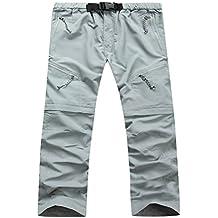 TFgirls Pantalones cortos rápidos para hombre de los hombres Pantalones cortos desmontables para la escalada de senderismo