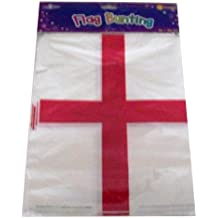 England St Georges Day Flag Bunting Banner 20 Flags 10M - 32 feet Long by The fancy dress and party store