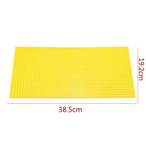 nder-Bildungs-Spielzeug Punkte Bauplatte Kleines Bricks Unterstützung Bausteine   Platte Kleine Partikel Bodenplatte Kinder pädagogisches Spielzeug (24x48) Gelb ()