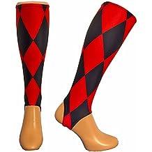 calcetines para espinilleras - Rojo - Amazon.es