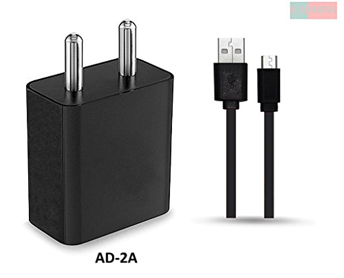 Micromax A 350 Canvas Knight / Micromax A350 Canvas Knight Charger Adapter 2 Amp Genuine Original High Speed Certified Wall Charger / Travel Charger / Mobile Charger With 1 Meter Micro USB Cable By StuffHoods ( 2 Ampere, Black)  available at amazon for Rs.490