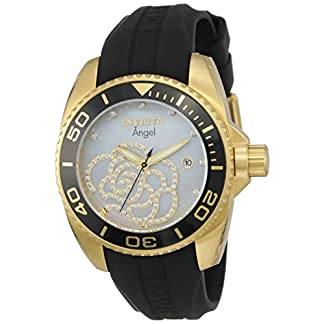 Invicta 0489 Angel Reloj para Mujer acero inoxidable Cuarzo Esfera platino