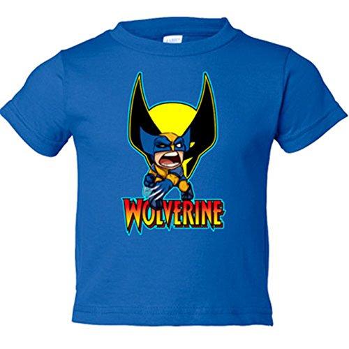 Camiseta niño Lobezno - Azul Royal, 5-6 años