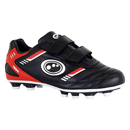 Optimum Tribal Velcro Moulded, Football Entrainement Garçon Noir (Black/Red)