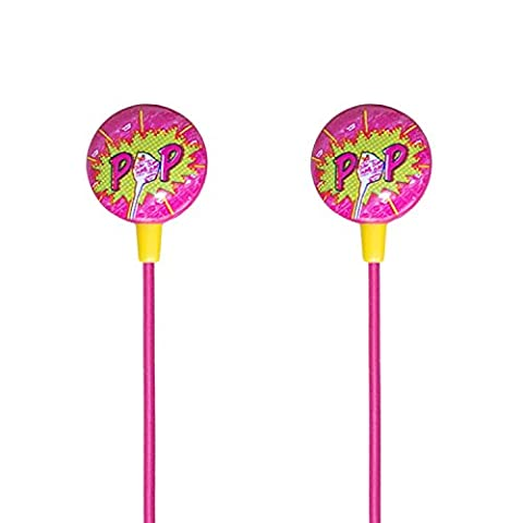 iHip DUM DUMS Candy Stereo Earbud with Built-in Mic for
