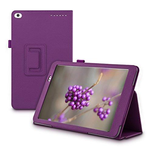 kwmobile Funda para Huawei MediaPad T1 10 - Carcasa Plegable de [Cuero sintético] para Tablet con [Cierre magnético] y [Soporte]