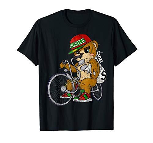 Lowrider Teddybär Hip Hop Liebhaber Hustler Unternehmer T-Shirt -