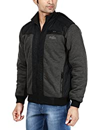 Ico Blue Star Full Sleeve Solid Men's Quilted Jacket