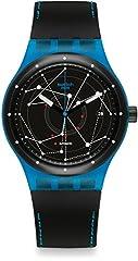 Idea Regalo - Swatch Orologio Digitale Automatico Uomo con Cinturino in Pelle SUTS401
