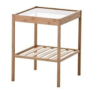 Ikea Nesna Langlebig Bambus Nachttisch 702 155 25 Amazon De Kuche