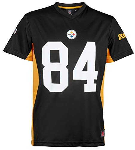 NFL Antonio Brown #84 Pittsburgh Steelers Moro MESH Jersey T-Shirt, XL