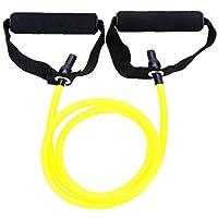 Látex elástico Banda de Resistencia de Pilates del Tubo de tracción por Cable Gimnasio Yoga de la Aptitud Equipo Amarillo