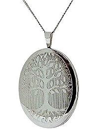 The OLIVIA Collection de plata de ley 20 mm del árbol de la vida a presión