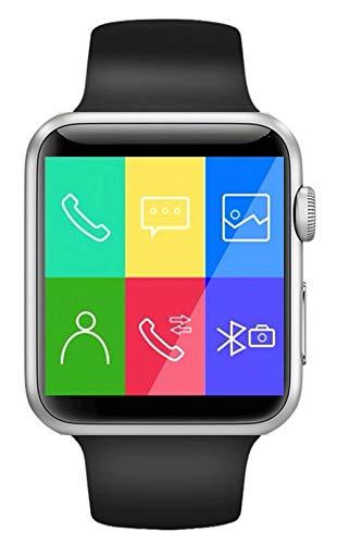 Boutique Connectée Montre Connectée Smartwatch pour Smartphone Android Apple iOS Windows Phone Bluetooth 4.2 Langue Français Slot Carte SIM Carte SD Contrôle Musique SMS Appels 2019 (Noir)