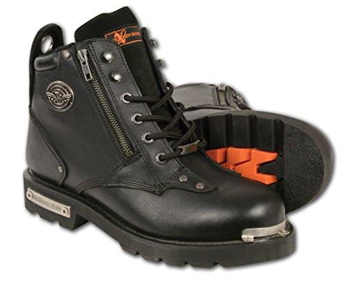Preisvergleich Produktbild Milwaukee Leder Herren Klassische Motorradstiefel (schwarz,  Größe 9, 5)