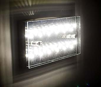 led deckenlampe deckenleuchte wandleuchte energiesparlampe aus edelstahl glas 12 watt auch f r. Black Bedroom Furniture Sets. Home Design Ideas
