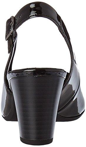 Gabor Shoes Comfort, Scarpe Col Tacco con Cinturino a T Donna Nero (schwarz 67)