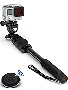 Professional 10-in-1 Universal Selfie Stick Monopod Kit - Works With Everything - iPhone, Android, Samsung Galaxy, Note, GoPro, Cameras - Bluetooth Remote Control Shutter & Go Pro Mount + Screw Included