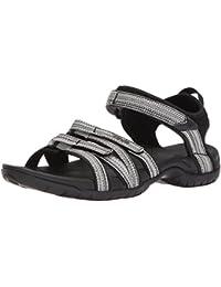 Teva Women's W Tirra Sport Sandal, Black/White Multi, 5.5 M US