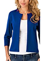 Generic Women's Casual Cardigan Blazer O Neck Slim Fitted Office Jacket top XS 1