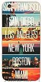 WRAP Coque iPhone 7 et iPhone 8 San Francisco San Diego Los Angeles New York Boston Miami Voyage USA Plastique rigide - WRAP