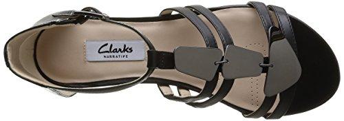 Clarks Studio Star Damen Knöchelriemchen Sandalen Schwarz (Black Leather)