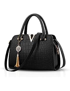 NICOLE&DORIS Mode Frauen Handtaschen Umhängetasche Damenhandtaschen Henkeltaschen Schultertaschen Shopper PU