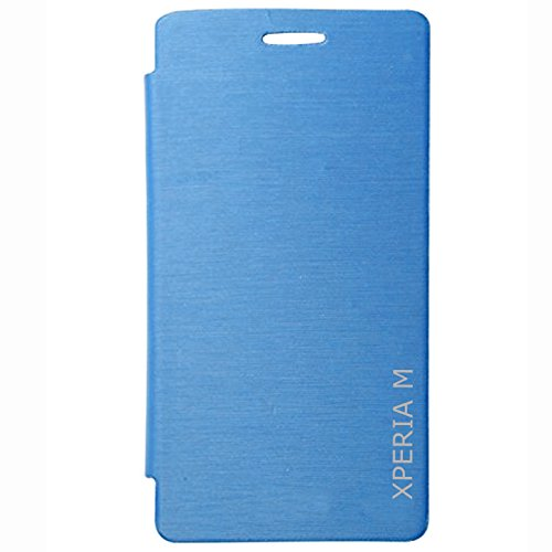 DMG Durable PU Leather Flip Cover Case for Sony Xperia M (Royal Blue)  available at amazon for Rs.99