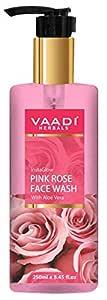 Vaadi Herbals Insta Glow Pink Rose Fase Wash With Aloe Vera Extract, 250 ml