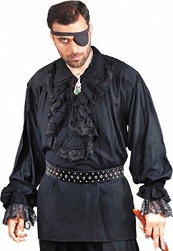 Roberto Cofresi Piraten Shirt - Black, (Kostüme Mut)