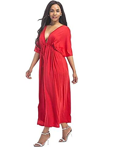 PU&PU Women's Plus Size Casual/Daily Street chic Loose DressSolid V