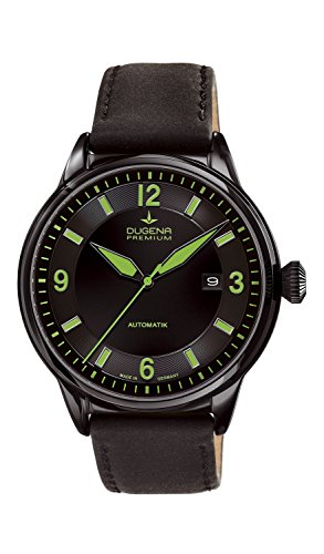 Dugena - 7000301 - Montre Homme - Automatique - Analogique - Bracelet Cuir Noir