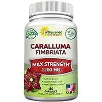 aSquared Nutrition Pure Caralluma Fimbriata, 1200 mg -180 Capsules