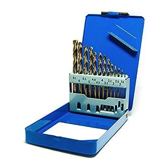 S&R Metal Drill Bit Set 1-6,5mm, 13 Piece, HSS COBALT DIN 338, polished. Steel box.Professional Quality.