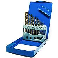 S&R HSS COBALTO - Juego de brocas, Rectificadas para metal, DIN 338, acero aleado con cobalto, corte tipo C según DIN 1412, 135°, Caja metálica, 1.5-6.5 mm, 13 unidades