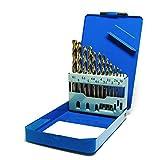 S&R Metallbohrer Set 1,5-6,5 mm 13 Stk,HSS COBALT, DIN 338, Kobaltlegiert, C-Schliff nach DIN 1412 135°, geschliffen, Metallbox. Profi-Qualität