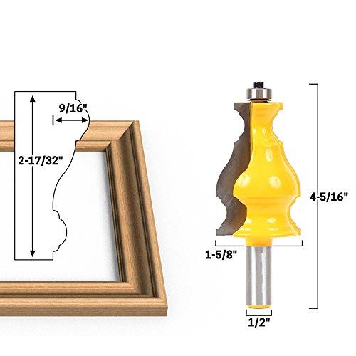 AKUTA 1/5,1cm Schaft großen, eleganten Bilderrahmen Formen Router Bit Tür Messer Holz Cutter Zapfenschneider für holzbearbeitungswerkzeuge